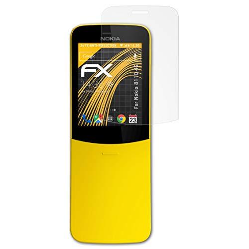 atFolix Panzerfolie kompatibel mit Nokia 8110 4G Schutzfolie, entspiegelnde & stoßdämpfende FX Folie (3X)