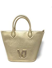 Versace - Bolso de asas para mujer Amarillo dorado 27x15x27cm
