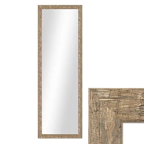 Wand-Spiegel 36x96 cm im Holzrahmen Strandhaus-Stil Eiche-Optik Rustikal  Spiegelfläche 30x90 cm