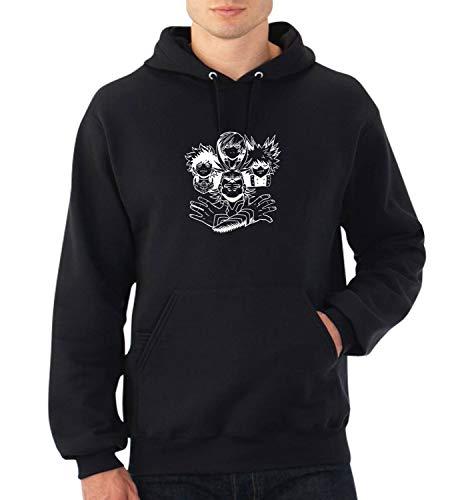My Hero Academia Queen Rhapsody Heads_A0606 Fan Art Hoodie Sweater Kapuzenpullover Sweatshirt Pullover Funny Christmas MD Black Hoodie Rhapsody Tee