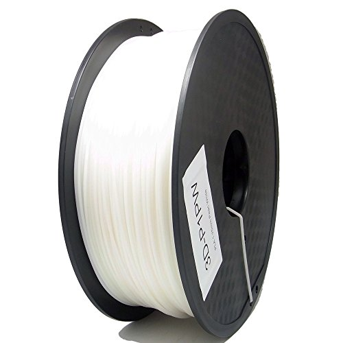 SIENOC 1 Packung 3D Drucker PLA 1.75mm Printer Filament - Mit Spule 1kg (Perlweiß)