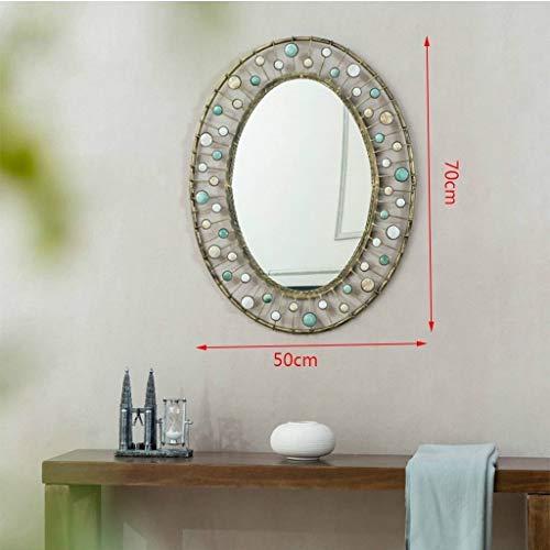 ZhanMaT Konvexer Spiegel- Retro Schwarze Badezimmer-Toiletten-Eitelkeits-Wand-Kosmetikspiegel-Front wasserdicht (Color : B) - Schwarz-badezimmer-eitelkeit Spiegel
