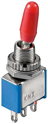 Manax® Miniatur Kippschalter EIN-EIN mit Lötösen - Verschiedene Verpackungsgrößen (50 Stück)