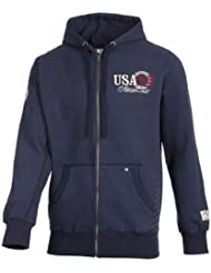 Ultrasport Fort Lauderdale Collection Herren Kapuzen-Sweatjacke/Zip Through Hoodie Key Largo