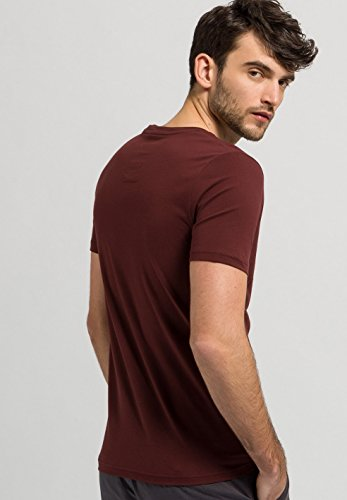 ARMEDANGELS Herren Print T-Shirt aus Bio-Baumwolle - James Guitar - GOTS, ORGANIC, CERES-008 grape red