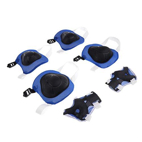 Homyl Ein Paar Taktische Sport Knie Schutzausrüstung Knieschutz Knieschoner für Kinder Radfahren - Blau