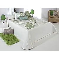 Colcha Verano Reig Marti Mod. Libor C04 verde REVERSIBLE (Cama 150/160 (