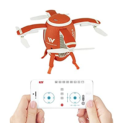 QUN FENG Mini Drone for Kids and Adults RC Quadcopter with WIFI FPV 0.3HD Camera 360°Mini Rugby Quadcopter Drone Headless Mode One Key Take Off and Return Voice Control