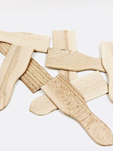 MGI Developpement Made in Jura - Lote de 12 espátulas raspadoras de madera de haya