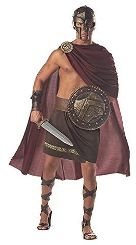 Spartakus Römer Herrenkostüm braun-rot L (Frauen Römischer Soldat Kostüm)