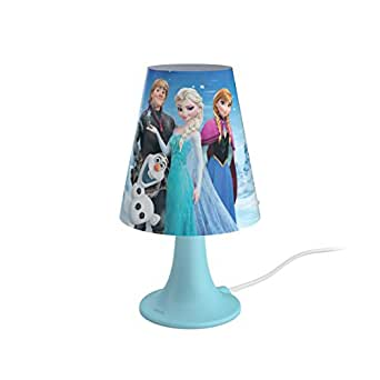 philips lampe de chevet led motif reine des neiges bleu. Black Bedroom Furniture Sets. Home Design Ideas