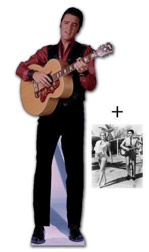 *FANBÜNDEL* - ELVIS PRESLEY SINGING mit GUITAR - LEBENSGROSSE PAPPFIGUREN / STEHPLATZINHABER / AUFSTELLER - ENTHÄLT 8x10