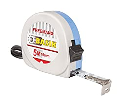 FREEMANS BKL519-Basik With Belt Clip Steel Plastic ABS 19mmX5m Measurement Tape