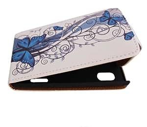 Handy Tasche Case Flip für LG E610 Optimus L5 / Handytasche Hülle Etui Schutzhülle JS M11