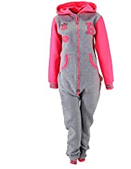 Cooler Jumpsuit Overall 'R' Hellgrau/Pink