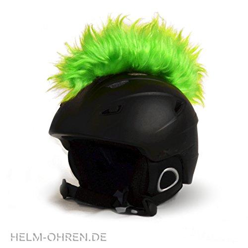 Helm-Irokese für den Skihelm, Snowboardhelm, Kinderskihelm, Kinderhelm, Motorradhelm oder Fahrradhelm - Der HINGUCKER - Der etwas auffälligere Helm-Aufkleber - für Kinder und Erwachsene HELMDEKO (Hellgrün)