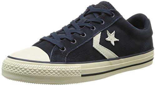 Converse Star Player Ev Suede Ox, Unisex - Erwachsene Sneaker Blau (10 MARINE/ECRU)