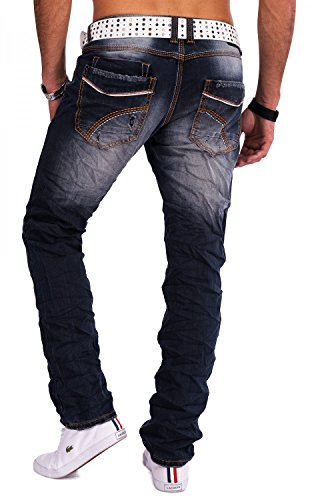 Uomo Jeans slim fit distrutto TORONTO Nr.1549 Blau