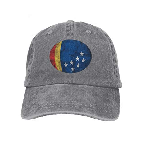 Snapback Adult Cowboy Hat Hip Hop Trucker Hat Durham North Carolina Durham North Carolina Grunge Dirty FLA Gray ()