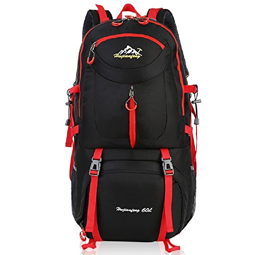 Imagen de macutos de senderismo  y bolsas senderismo , camping  / viaje  / trekking  / casual  para el deporte al aire libre senderismo trekking camping escalada montaña black 2, 60l