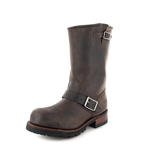 FB Fashion Boots Buffalo Boots 1808 Brown Bikerstiefel für Damen und Herren Braun Engineerstiefel, Groesse:48