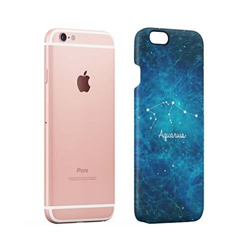 Zodiac Aries Stars Custodia Posteriore Sottile In Plastica Rigida Cover Per iPhone 6 Plus & iPhone 6s Plus Slim Fit Hard Case Cover Aquarius Stars