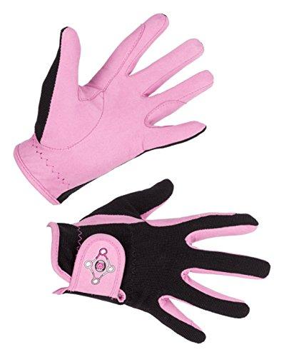 Covalliero Kinder Kinderreithandschuh Lilli Black/pink, Größe L Reithandschuh,