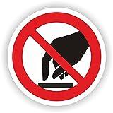 Berühren verboten / VER-19 / Sicherheitszeichen / Piktogramme / DIN EN ISO 7010 (20cm)