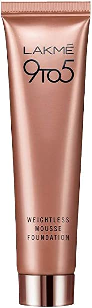 Lakme 9 to 5 Weightless Mousse Foundation, Beige Vanilla, 25g