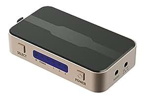 GadgetsAccessories Premium 4K X 2K 3 Input 1 Output HDMI Switch, Splitter With Audio DC IR, 3.5mm Audio Jack 3 Input To 1 Output
