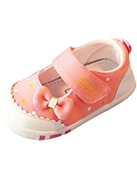 Y-BOA Princesse Chaussure Premier Pas Anti-slide Bébé Fille Nœud Papillon Chausson Souple Ballerine Baptême