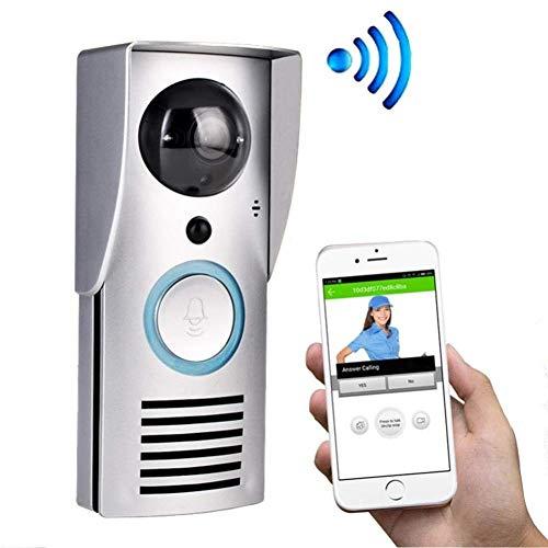LQUIDE Drahtlose Video-Türklingel, Smart WiFi, Telefon-Intercom-Fernüberwachungsalarm entsperren, wasserdichtes Design von Shell IP55, Android oder IOS-Handy-Tablet (Intercom-wifi)