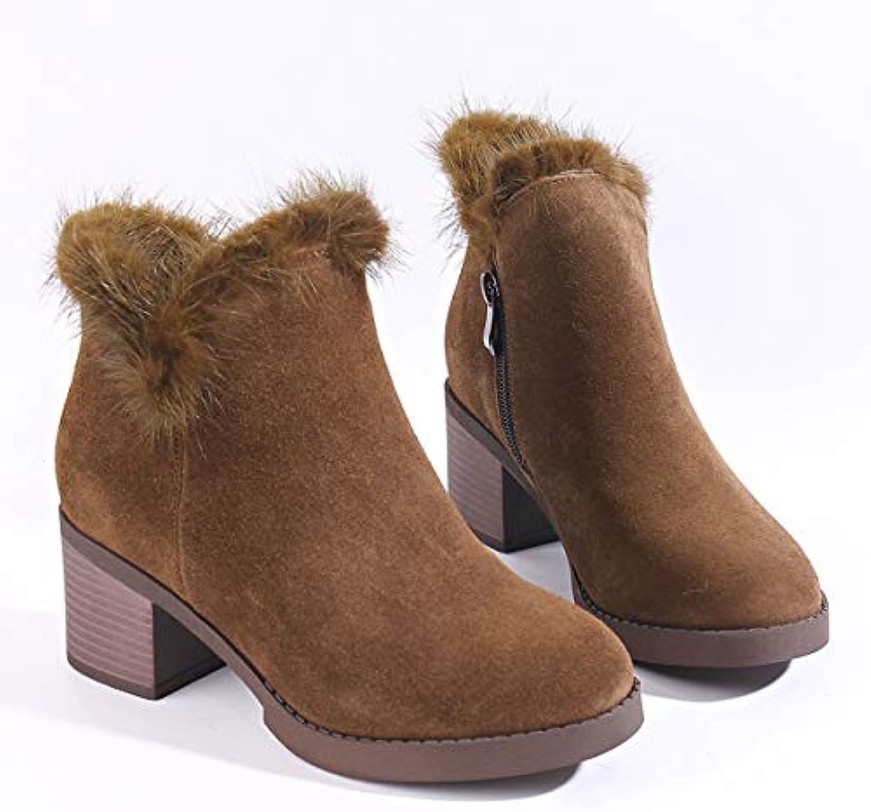 KOKQSX-l'autunno e l'inverno in Velluto con 6cm Tempo Tempo Tempo Libero della Moda del Cuoio Breve Stivali Caldi Scarpe da...   prendere in considerazione  83cd3f