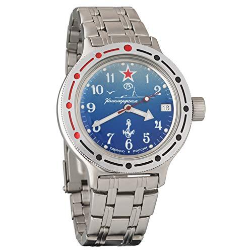 Vostok Amphibian 420289 Orologio subacqueo dei militari russi, colore blu