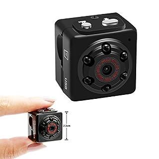 Aufikr 1080P Mini Camera Voice Recorder Sports HD DV Portable Small Camera Mini Sound Video Camera with Motion Detection, Home Surveillance Camera Nanny Cam, Support up to 128GB External Capacity