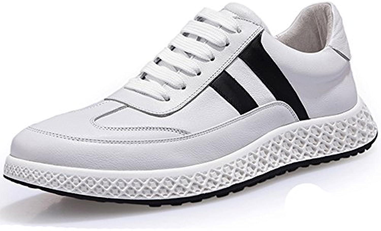 GOLDGOD Zapatos Blancos Pequeños Zapatos De Marea Zapatos De Cuero Zapatos Deportivos Y De Ocio Zapatos Salvajes...
