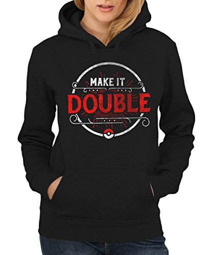 -- Make it double -- Girls Kapuzenpullover Schwarz