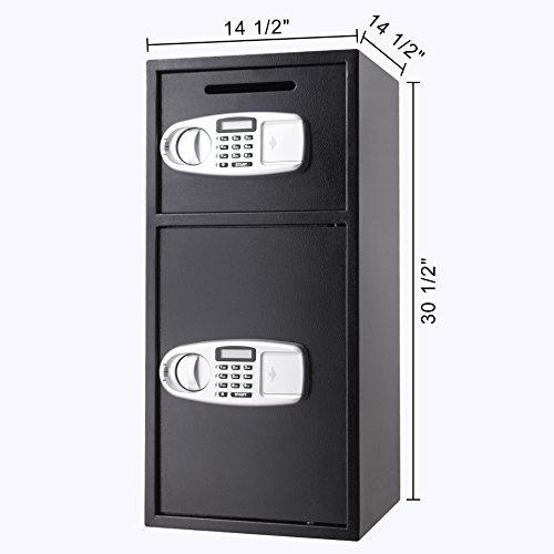 VEVOR Elektronischer Safe Tresor Doppeltüren Sicherheitsschrank 3MM Stahltür Möbeltresor Elektronikschloss Tresore für Geld Schmuck Waffen - 2