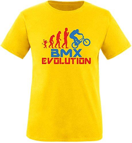 EZYshirt® BMX Evolution Herren Rundhals T-Shirt Gelb/Rot/Blau