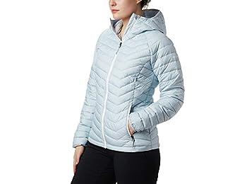 Columbia Women's Hooded Jacket, Powder Lite, Cirrus Grey Sparkler Print, X-Small