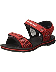 Spiderman by Kidsville Red Kids Boys Sandals Floaters