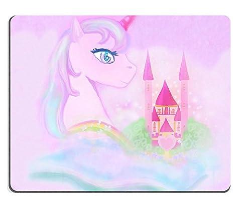MSD Gaming tapis de souris en caoutchouc naturel d'image: 37707957Adorable Licorne Arc-en-ciel et conte de fées château