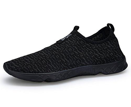XKMON Mujeres Slip ligero de secado rápido de las en los zapatos del agua de Aqua Women xz888 All Black 39