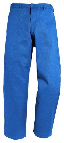 Arbeitshose mit Gummizug 191-0-1800-46 Hose, 100 % Baumwolle, Sanfor, Größe 46, Farbe: kornblau