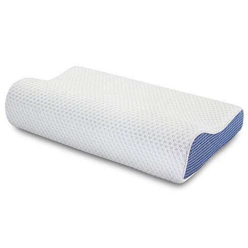 LANGRIA Memoryschaum Kopfkissen Nackenkissen Wellness Kissen orthopädisches Kopfkissen 50cm*30cm (Blau)