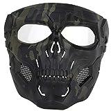 HYZH WST Airsoft Paintball-Maske Skull Tactical Mask Halloween-Partyspiel-Gesichtsmaske für Fast - MA-110-BCP