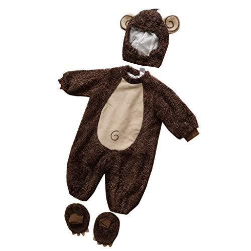 Baoblaze Baby weihnachts halloween Kostüm - Affe, 12-18 Monate (Kostüm Baby Halloween Affe,)