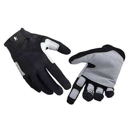 Adisaer Handschuhe Kletternden Handschuhe Lange Finger Handschuhe Abseilausrüstung Abseilen Trägt Rutschfeste Handschuhe Im Freien Black Size Large -