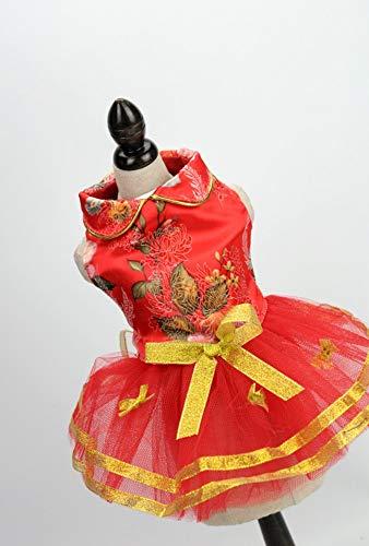 yiopk Heimtierbedarf Zubehör Großhandel Hund Rock Hochzeit Rost Anzug Festliche Tang Anzug klein, m (Großhandel Hochzeit Zubehör)