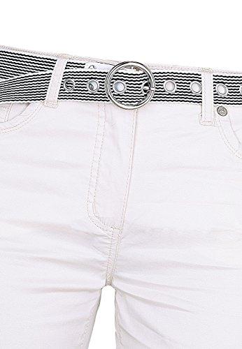 Michaelax-Fashion-Trade - Pantalon - Capri - Uni - Femme Beige - Beige - hell beige
